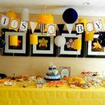 Decoracion baby shower en amarillo