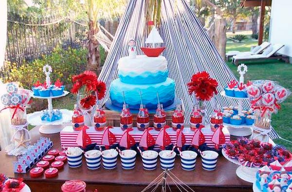 Decoracion baby shower nautico!