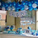 Decoracion de baby shower: coloridos adornos colgantes!