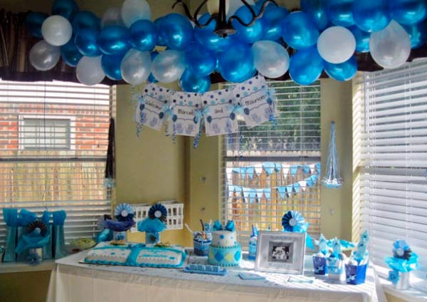 Decoracion de baby shower: coloridos adornos colgantes!