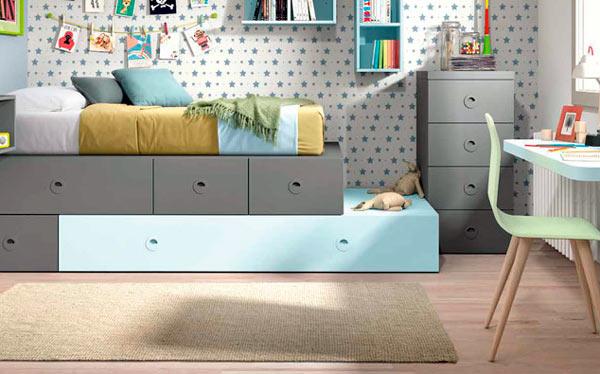 decorar dormitorios con mobiliario juvenil